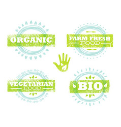 Organic eco food creative rough design concept vector