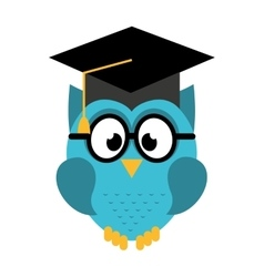owl graduate isolated icon design vector image vector image