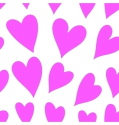 Pink hearts seamless pattern vector image vector image