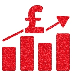 Pound business chart grainy texture icon vector