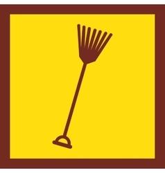 Rake tool farm icon vector
