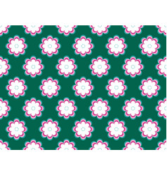 Seamless floral pattern flowers with petals of vector