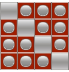 Silver red background with circles and squares vector