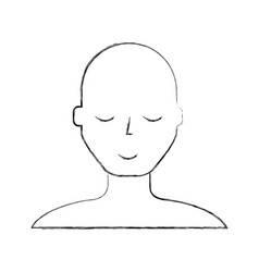 sketch draw bald man vector image