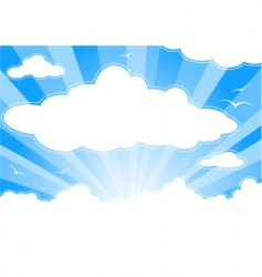 skyscape vector image vector image