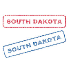 south dakota textile stamps vector image vector image