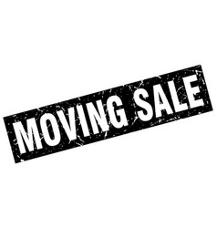 Square grunge black moving sale stamp vector