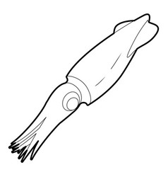 Squid icon outline vector