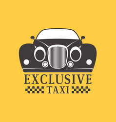 taxi badge car service business sign template vector image vector image