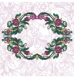 Vintage floral frame and decorative seamless vector