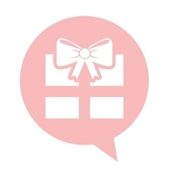 Gift box isolated icon vector