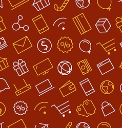 Web shopping sale background Seamless pattern vector image