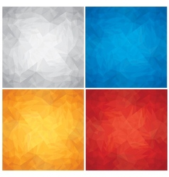 Set of crumpled colored paper textures vector