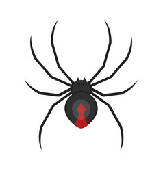 Flat style of spider vector