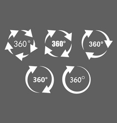 360 degree rotation icons vector