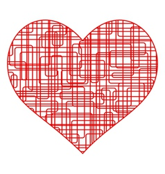Wire heart vector