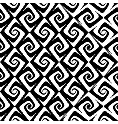 Design seamless monochrome spiral movement pattern vector
