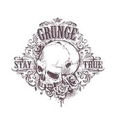 Grunge Skull Art vector image
