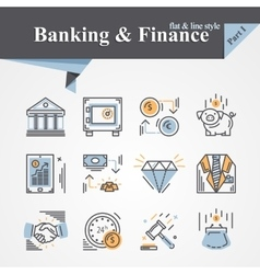 Banking and finance icon vector