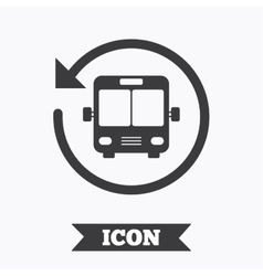 Bus shuttle icon Public transport stop symbol vector image