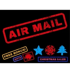 Air mail rubber stamp vector