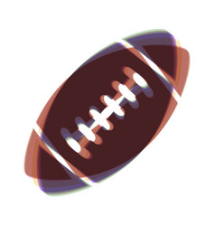 American simple football ball colorful vector