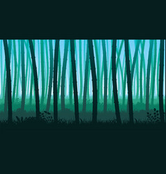 Background of landscape with stems of bamboo vector