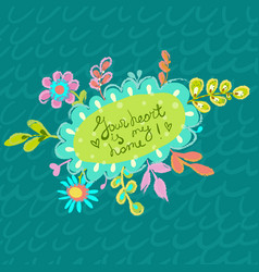 Bright colorful floral background for beautiful vector