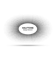 circle frame halftone dots logo design element vector image vector image
