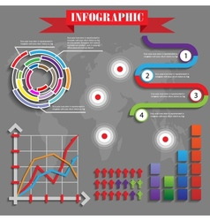 colorful futuristic infographics vector image vector image
