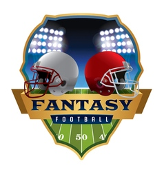 Fantasy Football Badge Emblem vector image
