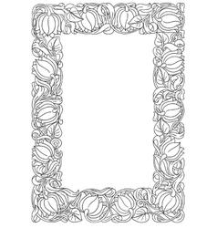 flower frame Retro vintage gothic style Vintage vector image vector image