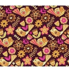 flower pattern seamless botanic texture vector image