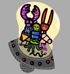 friendly aliens vector image