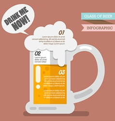 Glass of beer infographic vector