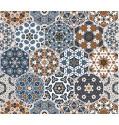 Hexagon set template vector