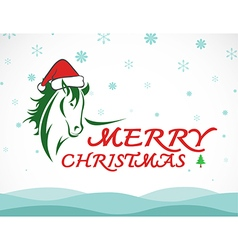 Hores merry christmas vector image vector image