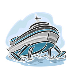 hydrofoil ship vector image vector image