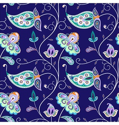 indian pattern 02 vector image vector image