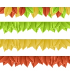 leaves on white vector image vector image