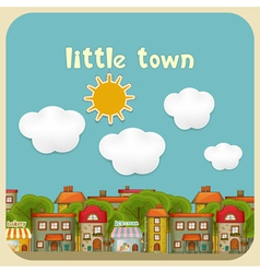 Little Town Color Houses vector image