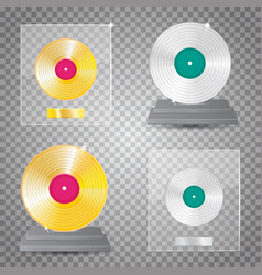 lp platinum lp gold set vector image vector image