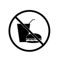 No food and drink sign vector