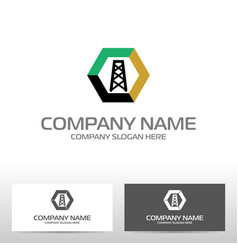 oil industry logo design vector image vector image