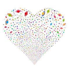 planet saturn fireworks heart vector image vector image
