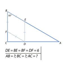 Problem of finding the sides of the triangle-01 vector