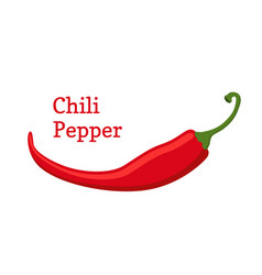 Red chili pepper hot spicy cartoon style vector