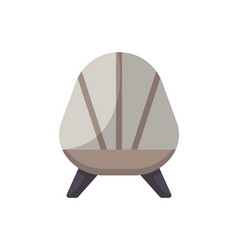 retro armchair isolated icon in flat style vector image vector image
