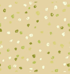 seamless green ink dots pattern grunge vector image