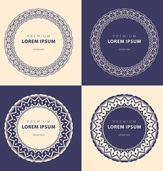set abstract frames logo templates line style vector image vector image
